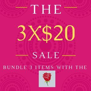 3 items for $20!!